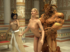 Lustful Pharaoh woman and her angry huge - Cartoon Sex - Picture 2