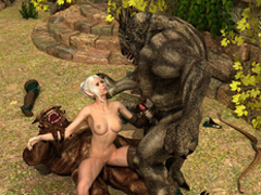 Beautiful Elven getting banged badly by two - Cartoon Sex - Picture 3