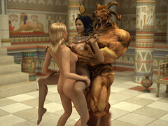 Lustful Pharaoh woman and her angry huge - Cartoon Sex - Picture 5