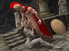 Horny Roman legionnaire banging variously - Cartoon Sex - Picture 2