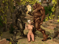 Beautiful Elven getting banged badly by two - Cartoon Sex - Picture 5