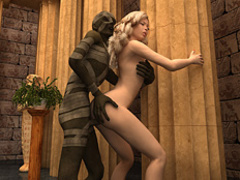Blonde chick became a pharaoh's wife when a - Cartoon Sex - Picture 1
