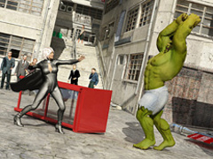 Angry Hulk humped a beautiful blondie in high - Cartoon Sex - Picture 1