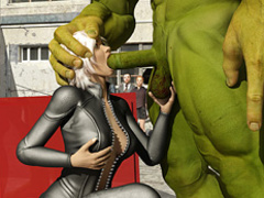 Angry Hulk humped a beautiful blondie in high - Cartoon Sex - Picture 2