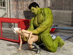 Angry Hulk humped a beautiful blondie in high - Cartoon Sex - Picture 4