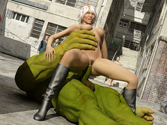 Angry Hulk humped a beautiful blondie in high - Cartoon Sex - Picture 5