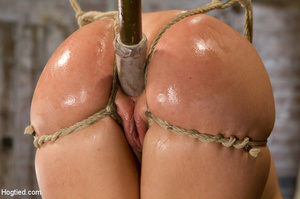 Big tits blonde roped on tits and cunt a - XXX Dessert - Picture 8