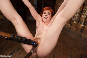 Lusty redhead loves being tied, hung and - XXX Dessert - Picture 11