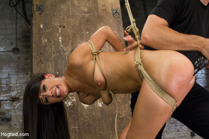 Girl folded and tied up as guy clips tit - XXX Dessert - Picture 9