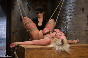 Sexy blonde hung and strapped with cute  - XXX Dessert - Picture 1