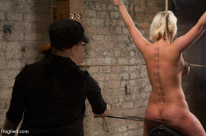 Sexy blonde hung and strapped with cute  - XXX Dessert - Picture 8