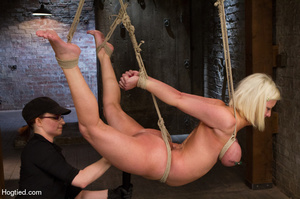 Sexy blonde hung and strapped with cute  - XXX Dessert - Picture 10