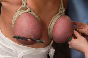 Sexy blonde hung and strapped with cute  - XXX Dessert - Picture 11