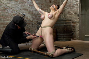 Cute babe bound in kinky positions with  - XXX Dessert - Picture 3
