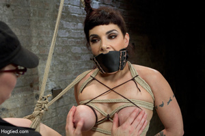 Cute babe bound in kinky positions with  - XXX Dessert - Picture 7