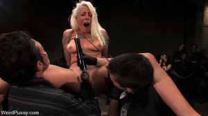 Private show as cute blonde gets pegged, - XXX Dessert - Picture 5