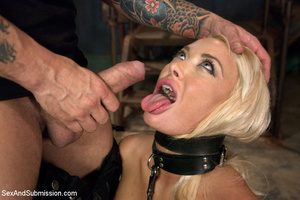Hot blonde with big tits tied down to su - XXX Dessert - Picture 3
