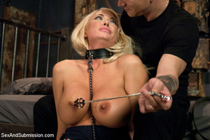 Hot blonde with big tits tied down to su - XXX Dessert - Picture 5