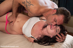 Masturbating chick gets tied, licked and - XXX Dessert - Picture 7