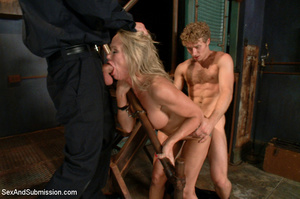 Hot tits blonde tied to bed and sucks tw - XXX Dessert - Picture 5