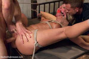 Hot tits blonde tied to bed and sucks tw - XXX Dessert - Picture 10