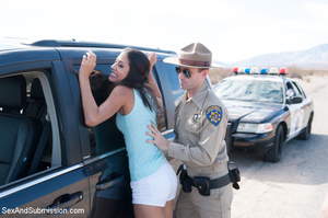 Bad officer stops two chicks and make th - XXX Dessert - Picture 1