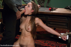 Pretty chick sucks dick and gets bound,  - XXX Dessert - Picture 6