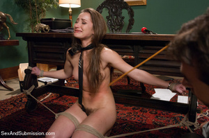 Pretty chick sucks dick and gets bound,  - XXX Dessert - Picture 7