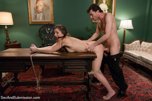 Pretty chick sucks dick and gets bound,  - XXX Dessert - Picture 8