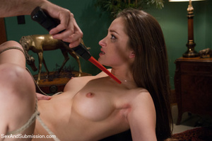 Pretty chick sucks dick and gets bound,  - XXX Dessert - Picture 12