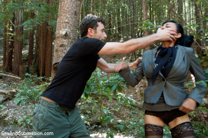 Guy ropes two hot babes in the woods and - XXX Dessert - Picture 4