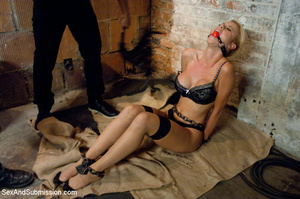 Big tits blonde model gets bound and fuc - XXX Dessert - Picture 5