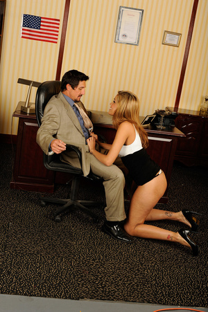 Office romance as sexy chick strips to s - XXX Dessert - Picture 12