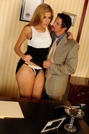 Office romance as sexy chick strips to s - XXX Dessert - Picture 13