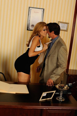 Office romance as sexy chick strips to s - XXX Dessert - Picture 14