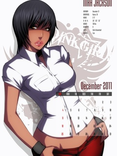 Awesome drawn porn calendar with slutty busty babes - Picture 2