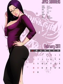 Awesome drawn porn calendar with slutty busty babes - Picture 3
