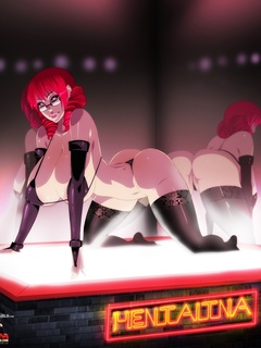 Hot toon chicks posing at cars for porn comics - Picture 1