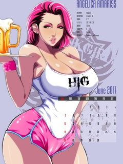 Bodacious toon babes on porn comics calendar leaves - Picture 4