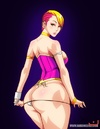 Cartoon bombshells with huge boobs and seductive forms