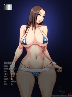 Various manga babes presentment in bikinis with their - Picture 5