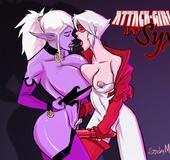 Adult comics present busty fairies and ladyboys