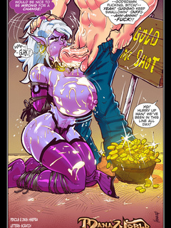 Busty purple-skinned fairy getting banged by pigs and - Picture 2