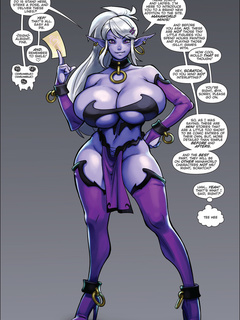Purple fairy with huge boobies gets tortured and - Picture 2