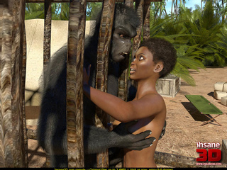 Gorilla fuck a woman — photo 12