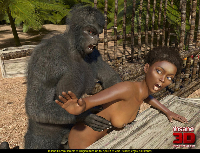 Gorilla with girl sex video something
