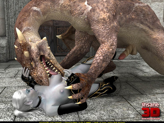 Huge 3D dragon with fire in his mouth fucking - Cartoon Sex - Picture 2