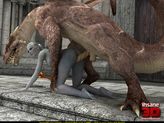 Huge 3D dragon with fire in his mouth fucking - Cartoon Sex - Picture 3
