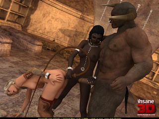 Huge Minotaur punishing and fucking variously - Cartoon Sex - Picture 3