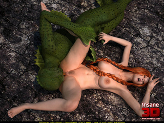 Green Aqua-monster pounding ginger girl with - Cartoon Sex - Picture 4